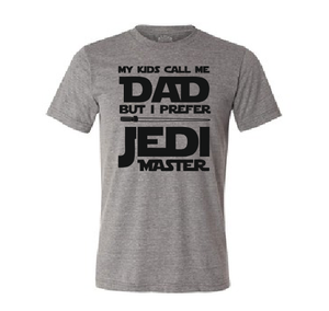 My kids call me Dad but I prefer Jedi Master funny men Father's Day t shirt-men T shirts-DiamondsKT