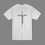 Jesus handwritten T shirt-men woman T shirts-DiamondsKT