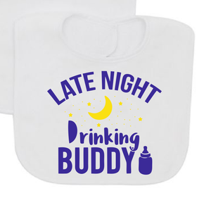 Late night drinking Buddy baby bib-Baby Bibs-DiamondsKT