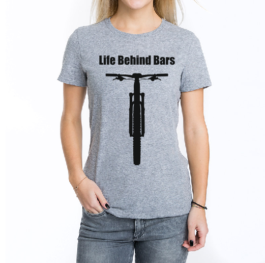 Life behind bars bicycle T shirt-men woman T shirts-DiamondsKT
