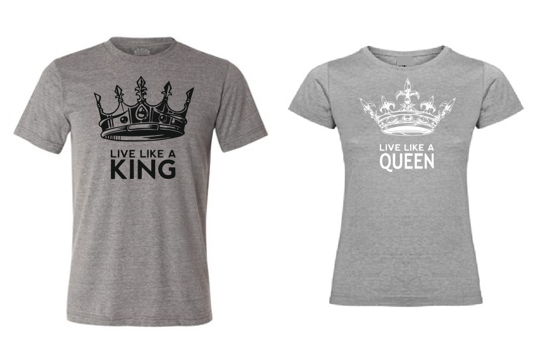 Live like a Queen T shirt-men woman T shirts-DiamondsKT