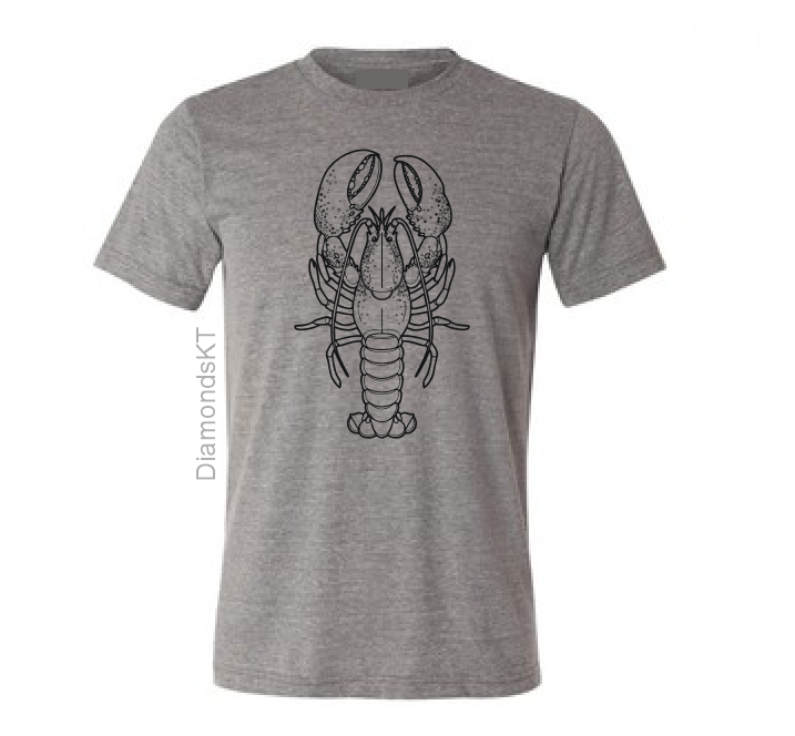 Lobster T shirt-men woman T shirts-DiamondsKT