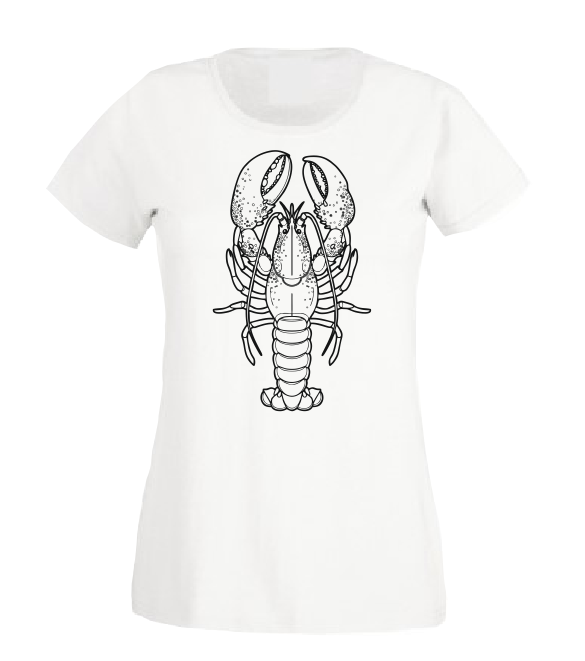 Little Lobster baby white black bodysuit / onesie-baby bodysuit onesie-DiamondsKT