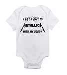I rock out to Metallica with my Daddy white black baby bodysuit / onesie-baby bodysuit onesie-DiamondsKT