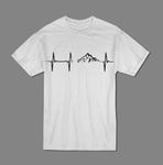 Mountain heartbeat T shirt-men woman T shirts-DiamondsKT