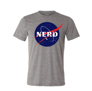 Funny Nerd Nasa logo parody T shirt-men woman T shirts-DiamondsKT
