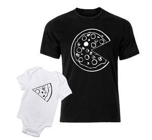 Pizza white black baby bodysuit / onesie-baby bodysuit onesie-DiamondsKT