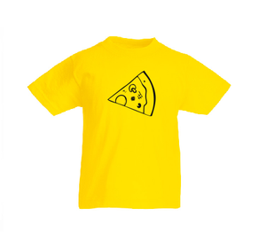 Pizza Kids Boy Girl cotton t shirt-Kids T shirts-DiamondsKT