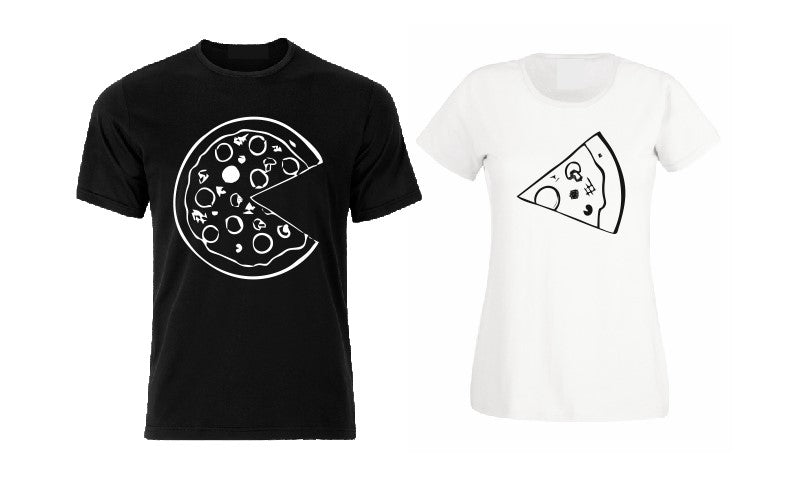 Pizza couple / family matching men / woman T shirt-men woman T shirts-DiamondsKT