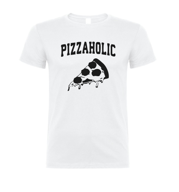 Pizzaholic T shirt-men woman T shirts-DiamondsKT