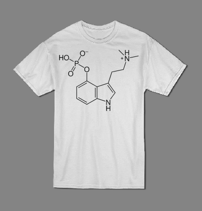 Psilocybin molecule T shirt-men woman T shirts-DiamondsKT