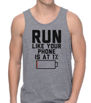 Run like your phone is at 1% tank top-men woman T shirts-DiamondsKT