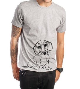 Sausage dog T shirt-men woman T shirts-DiamondsKT