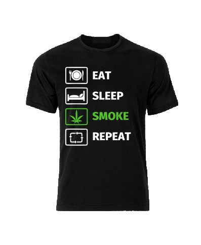 Eat Sleep Smoke Repeat T shirt-men woman T shirts-DiamondsKT