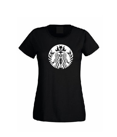 Starbucks scull T shirt-men woman T shirts-DiamondsKT