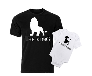 The Future King Daddy and me white black baby bodysuit / onesie-baby bodysuit onesie-DiamondsKT