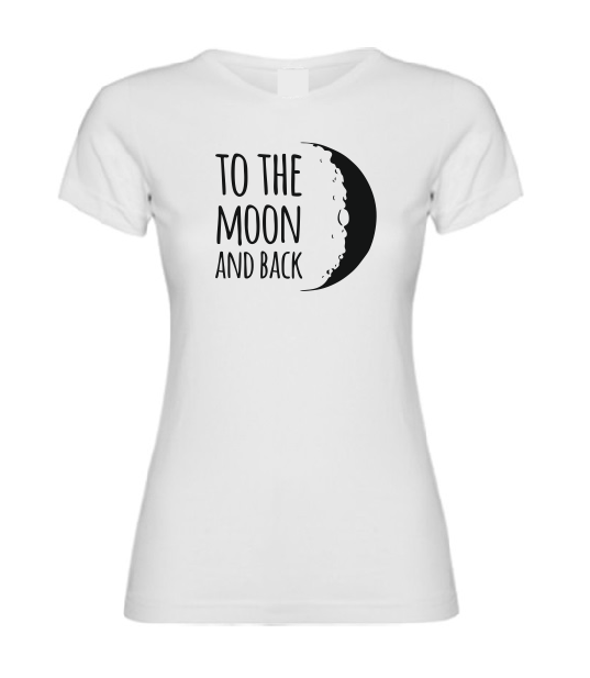 To the Moon and back T shirt-men woman T shirts-DiamondsKT