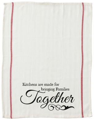 Kitchens are made for bringing Families Together kitchen tea towel-kitchen towels-DiamondsKT
