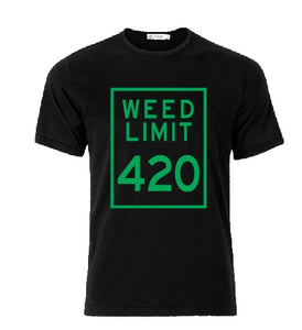 Weed limit 420 T shirt-men woman T shirts-DiamondsKT
