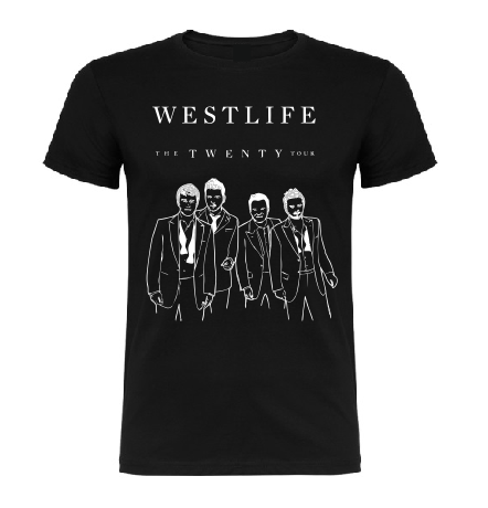 Westlife The Twenty Tour T shirt-men woman T shirts-DiamondsKT