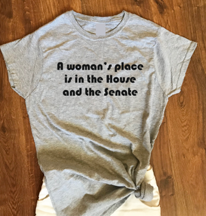 A woman's place is in the House and the Senate T shirt-woman t shirts-DiamondsKT