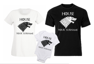 House - your surname Game of Thrones inspired men / woman T shirt-men woman T shirts-DiamondsKT