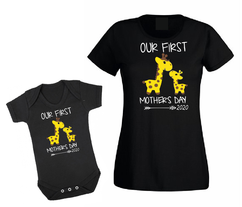 Our first Mother's Day 2020 Mommy and me matching outfit T shirt-woman t shirts-DiamondsKT