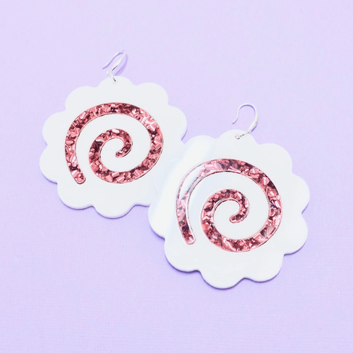 Narutomaki Statement Earrings - edenki