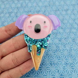 Kody the Koala Icecream Brooch - Limited