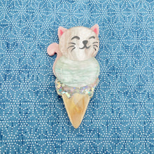 Load image into Gallery viewer, Coco the Celestial Kitten Brooch