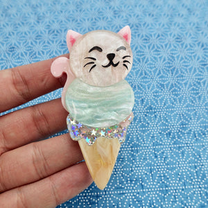 Coco the Celestial Kitten Brooch