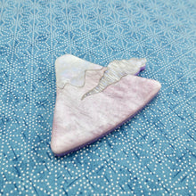 Load image into Gallery viewer, Glitter Lilac Mt. Fuji Brooch
