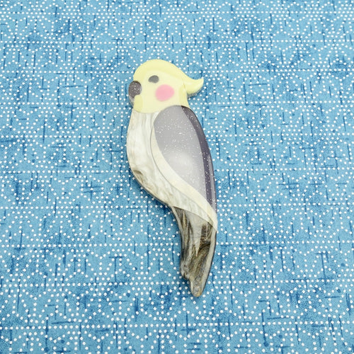 Chester the Cockatiel Brooch - edenki