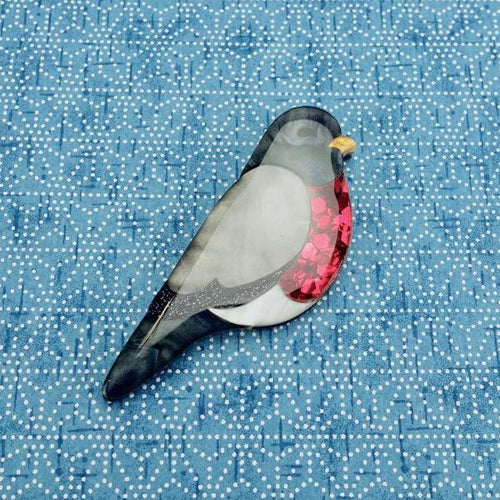 Rowan the Red Breasted Robin Brooch