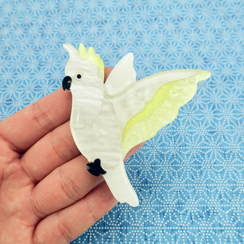 Charlie the Cockatoo Brooch