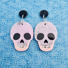 Load image into Gallery viewer, Stella Skull Earrings - Pink