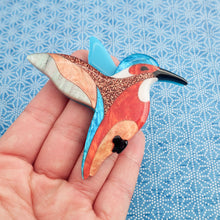 Load image into Gallery viewer, Kai the Kingfisher Brooch