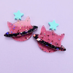 Cat Planet Earrings - edenki