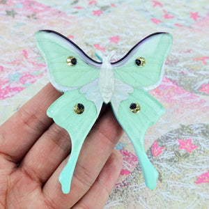 Luna Moth Brooch