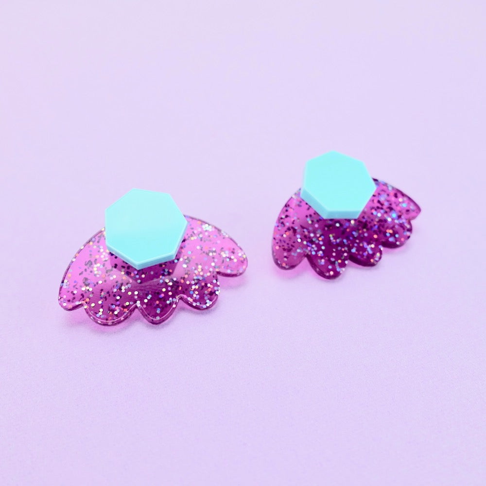 Bloom Ear Jacket - Deep Magenta - edenki