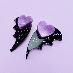 Bat Wing Ear Jacket - Galaxy Black