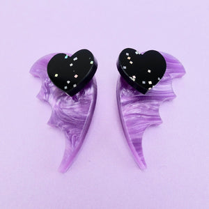Bat Wing Ear Jacket - Pearl Lavender