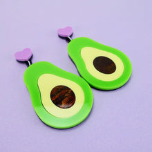 Load image into Gallery viewer, Avocado Statement Earrings