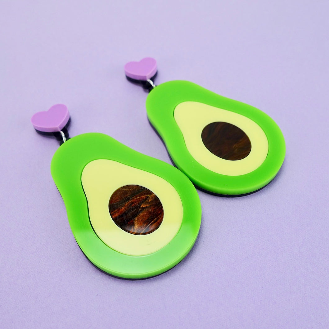 Avocado Statement Earrings