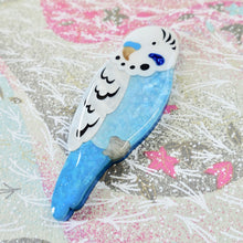 Load image into Gallery viewer, Benji the Blue Budgie Brooch