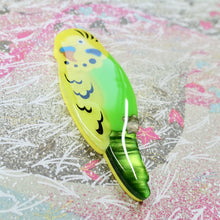 Load image into Gallery viewer, RETIRED - Bart the Yellow Budgie Brooch - edenki