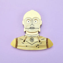 Load image into Gallery viewer, Star Wars - C-3PO Brooch - edenki
