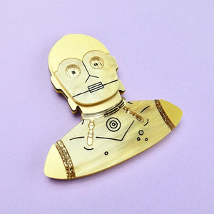 Star Wars - C-3PO Brooch - edenki
