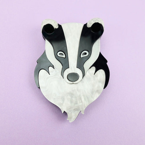 Bernard the Badger Brooch