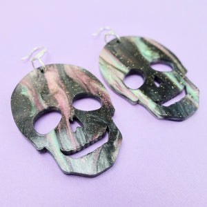Skull Earrings - Spellsmoke Glimmer - edenki